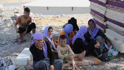 Yazidi take refuge in Turkey