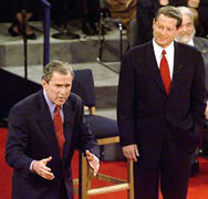 George W. Bush and Al Gore